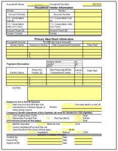 CAP eligibility form