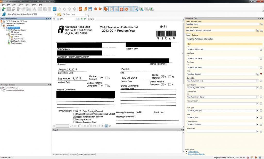 Head Start Paperless document