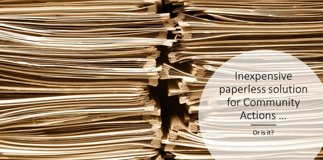 saving pdf's is inexpensive paperless solution or not